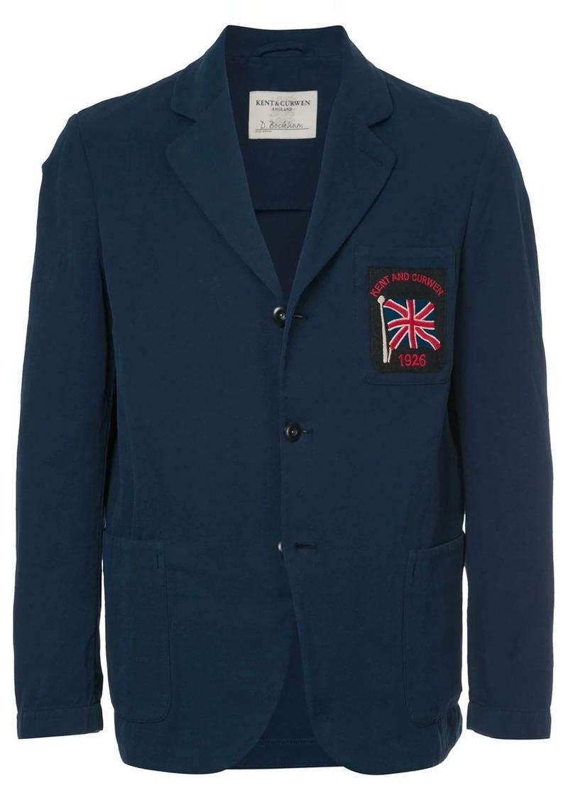 Kent & Curwen flag patch blazer