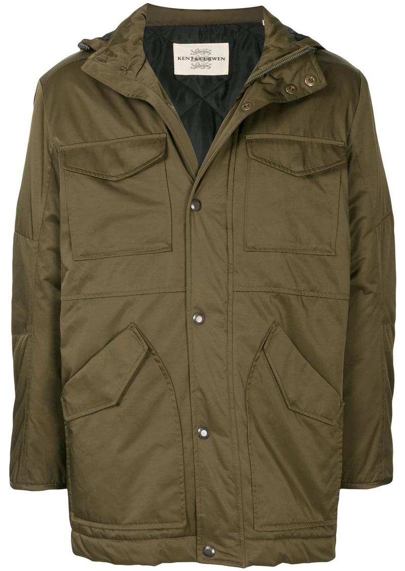 Kent & Curwen hooded press stud jacket