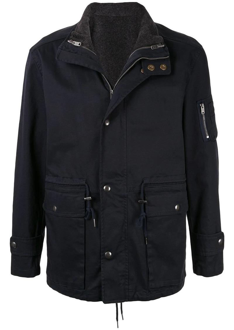 Kent & Curwen layered drawstring-hem jacket