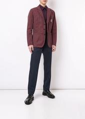 Kent & Curwen logo embroidered blazer