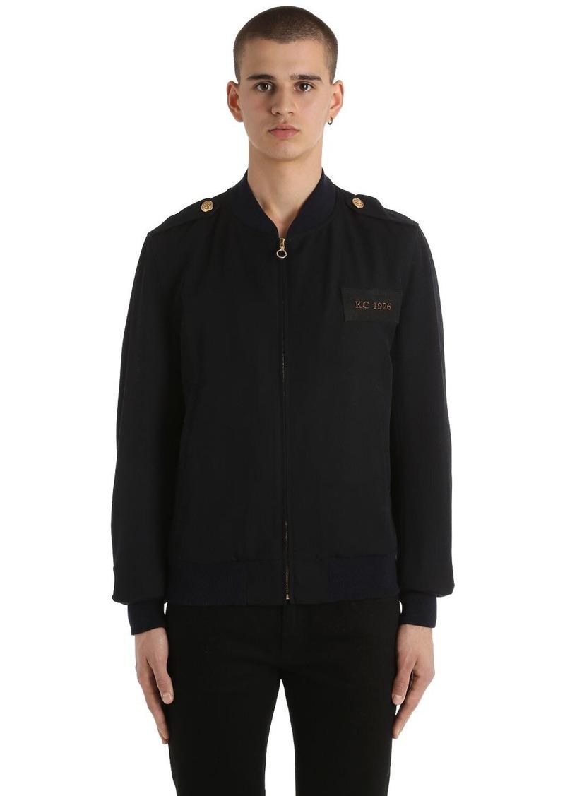 Kent & Curwen Military Wool Bomber Jacket