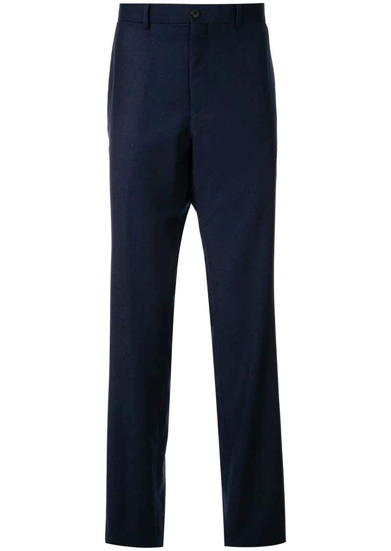 Kent & Curwen mottled twill tailored trousers