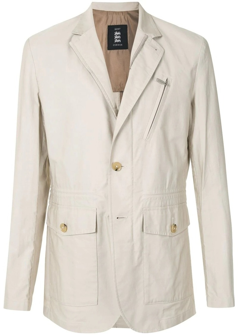 Kent & Curwen multi-pocket fitted blazer jacket