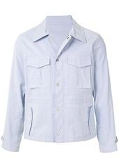 Kent & Curwen multi-pocket striped shirt jacket