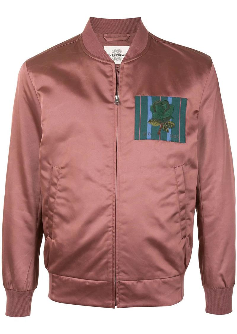Kent & Curwen rose motif bomber jacket