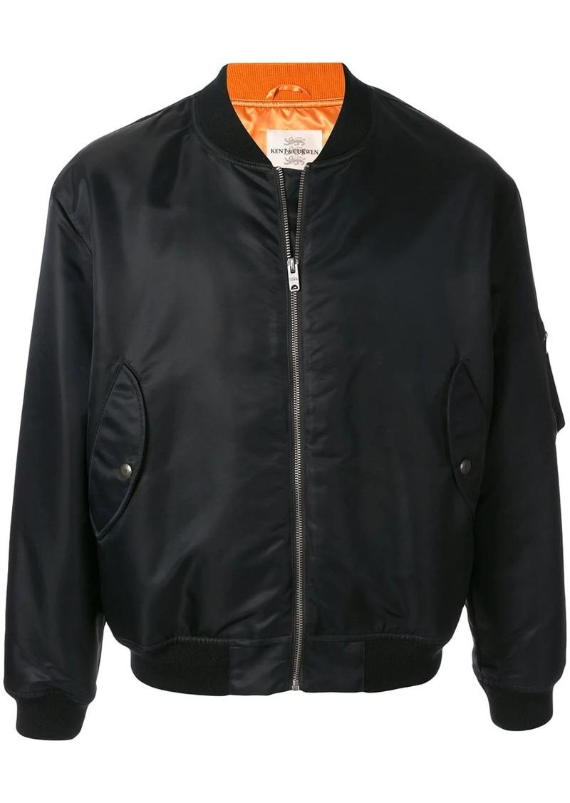 Kent & Curwen satin bomber jacket