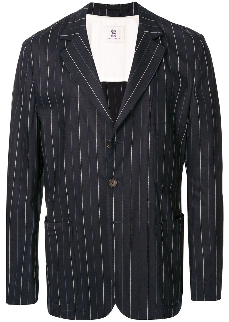 Kent & Curwen striped multi-pocket blazer jacket