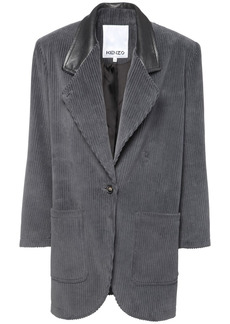 Kenzo Corduroy Straight Coat