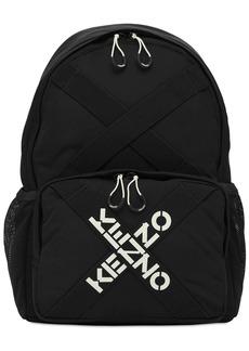 Kenzo Logo Embroidered Backpack