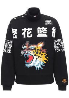 Kenzo Printed Brushed Cotton Sweatshirt