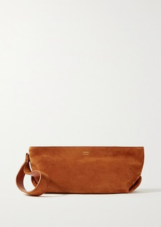 Khaite Alma Small Suede Clutch