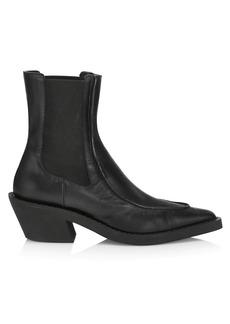 Khaite Charleston Leather Ankle Boots