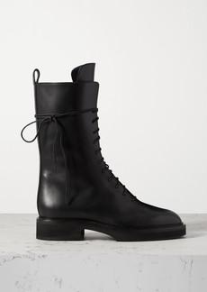 Khaite Conley Lace-up Leather Ankle Boots