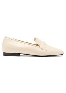 Khaite Carlisle square-toe leather loafers