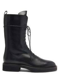 Khaite Conley leather ankle boots