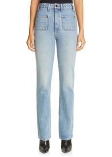 Khaite Isabella High Waist Straight Leg Jeans (Santa Cruz)