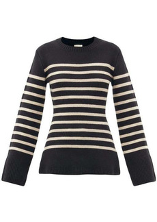 Khaite Lou striped cashmere sweater