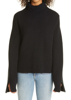Khaite Molly Rib Cashmere Turtleneck Sweater