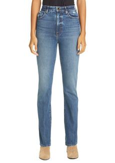 Khaite The Danielle High Waist Straight Leg Jeans (Lincoln)