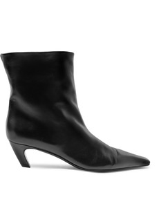 Khaite Leather Ankle Boots
