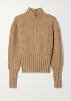 Khaite Maude Cable-knit Cashmere Turtleneck Sweater