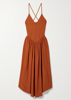 Khaite Mila Stretch-knit Midi Dress