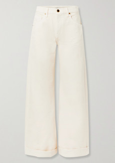 Khaite Noelle Cropped High-rise Wide-leg Jeans
