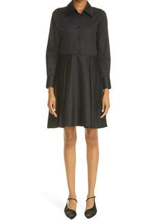 Women's Khaite Romy Long Sleeve Cotton Fit & Flare Dress