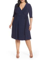 Kiyonna Kiyona Essential Wrap Dress (Plus Size)