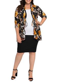 Kiyonna Lori Print Tunic Jacket (Plus Size)