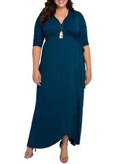 Kiyonna Meadow Dream Wrap Maxi Dress (Plus Size)
