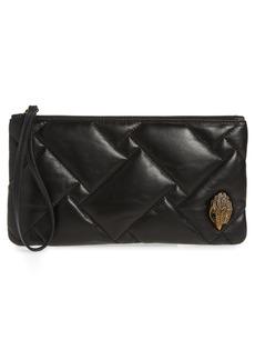 Kurt Geiger London Kensington Leather Wristlet - Black