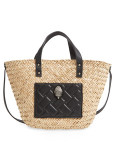 Kurt Geiger London Kensington Woven Straw Basket Tote