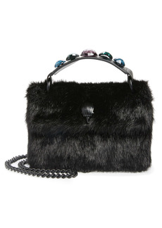 Kurt Geiger London Mini Kensington Faux Fur Crossbody Bag