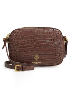 Kurt Geiger London Richmond Croc Embossed Leather Crossbody Bag