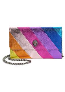 Women's Kurt Geiger London Stripe Leather Chain Wallet - Purple
