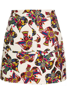 La Doublej abstract patterned high-waisted skirt