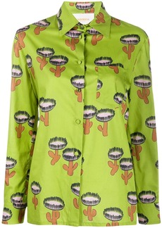 La Doublej cactus print longsleeved shirt