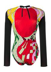 La Doublej printed longsleeve swimsuit