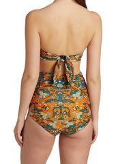 La Doublej Edition 24 3-Way Print Reversible Bandeau Bikini Top