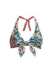 La Doublej Edition 24 Bow Print Reversible Bikini Top