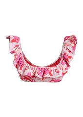 La Doublej Edition 24 Floral-Print Ruffle Bikini Top