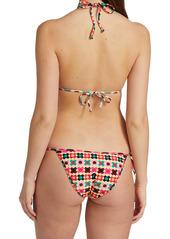 La Doublej Edition 24 Print Triangle Bikini Top