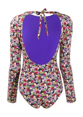 La Doublej floral long-sleeve swimsuit