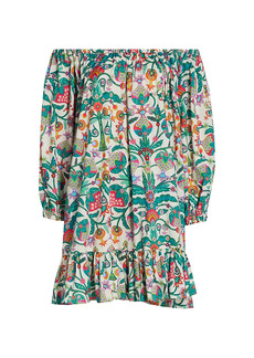 La Doublej Floral Off-The-Shoulder Paloma Dress
