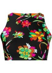 La Doublej floral print halter bikini top