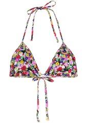 La Doublej floral print triangle bikini top