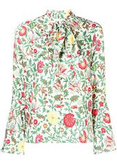 La Doublej floral pussybow blouse