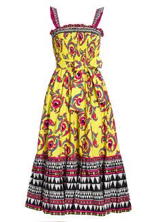 La Doublej Floral Smocked Midi Dress