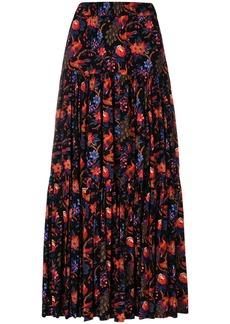 La Doublej floral tiered skirt